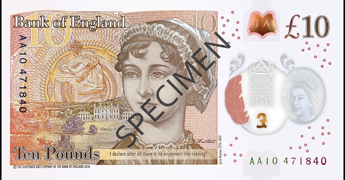 Back of ten pound note