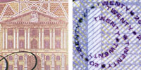 Clear vs blurred on the twenty pound note