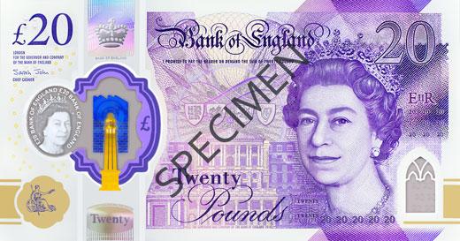 20イギリス ポンド紙幣