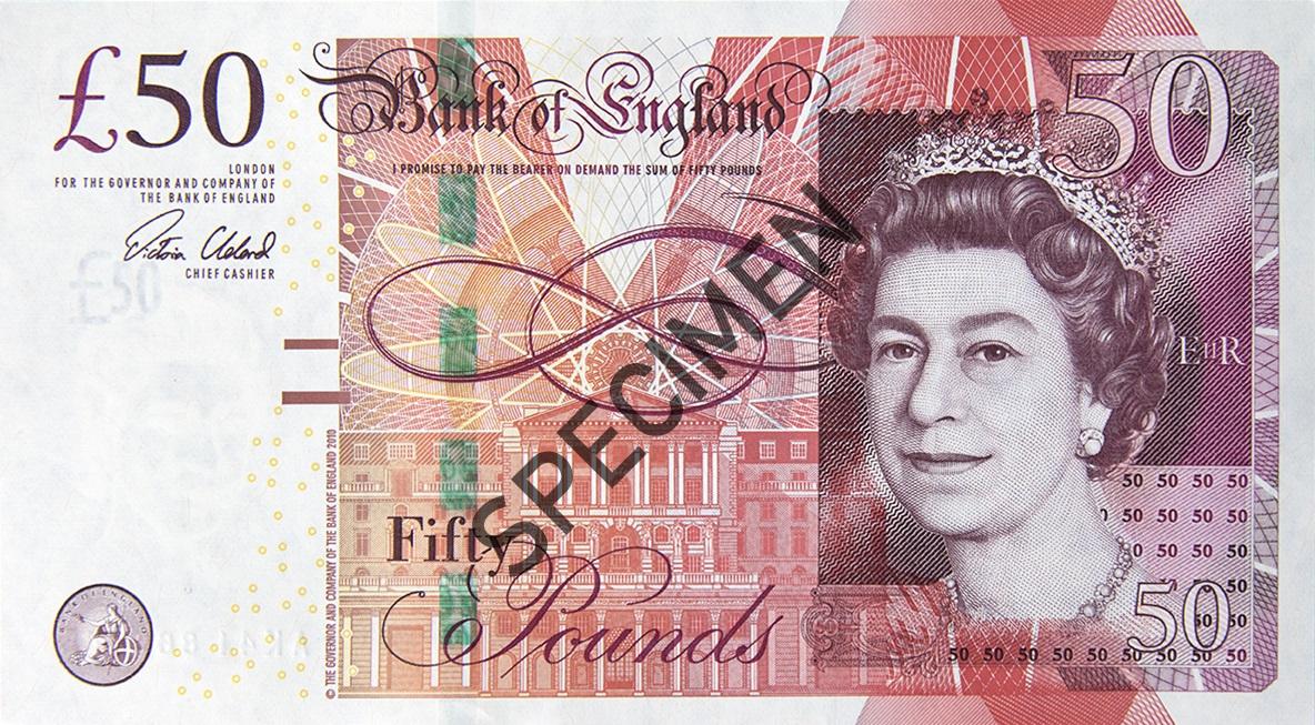 50イギリス ポンド紙幣