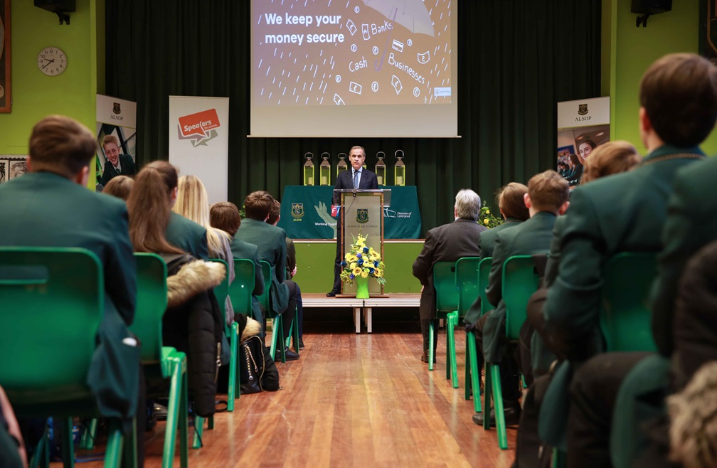 School visit by Mark Carney