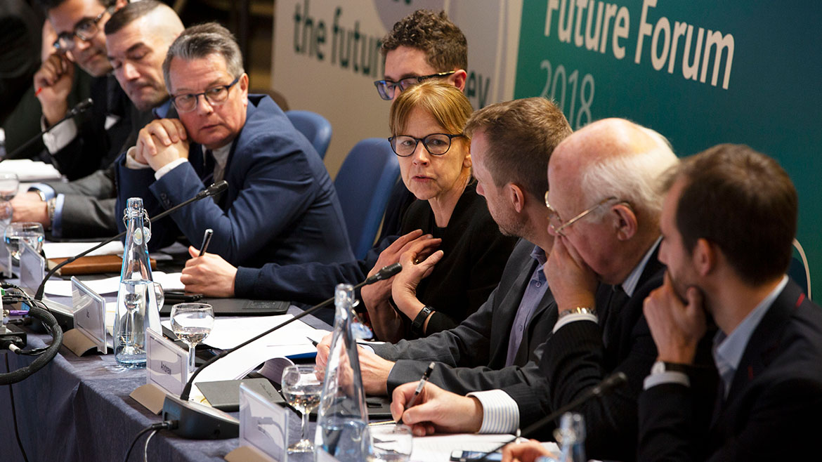 Joanna Place speaking at Future Forum roundtable