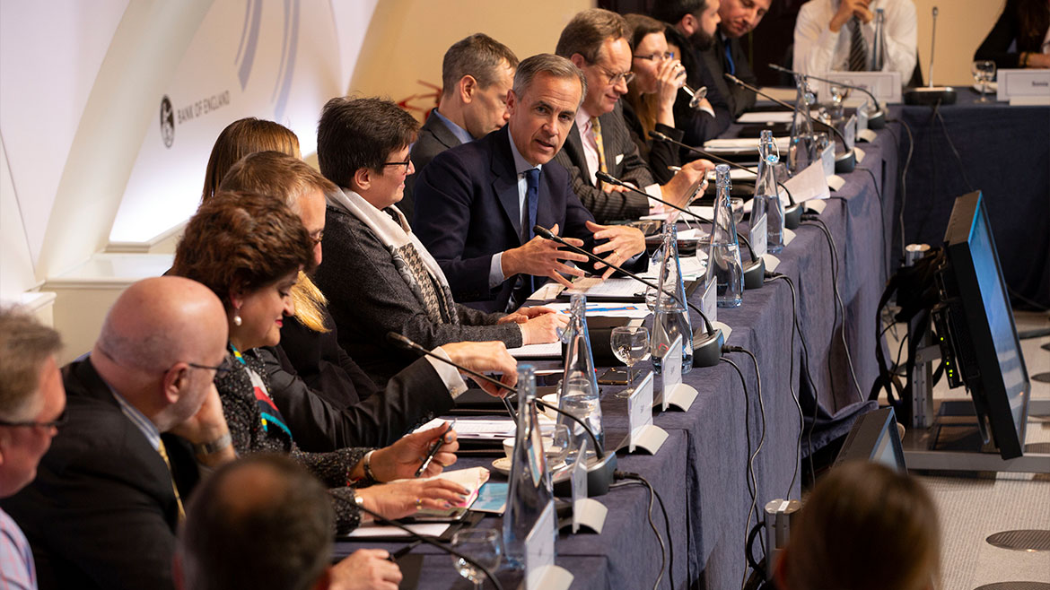 Governor Mark Carney speaking at the Future Forum public roundtable