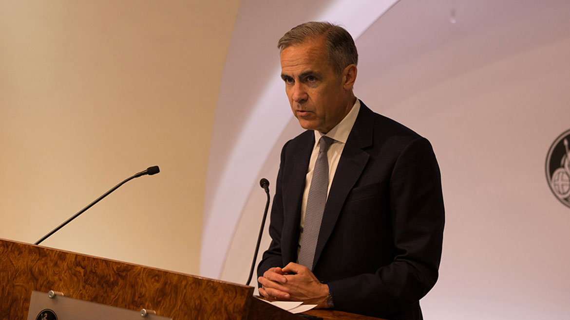 Mark Carney, Bank of England Governor, speaking at the conference