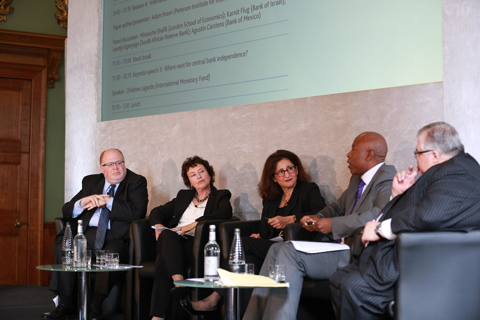 Minouche Shafik chairs the panel discussion