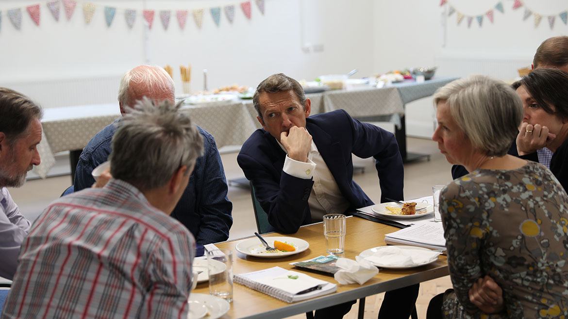 Andy Haldane in discussion at the community forum