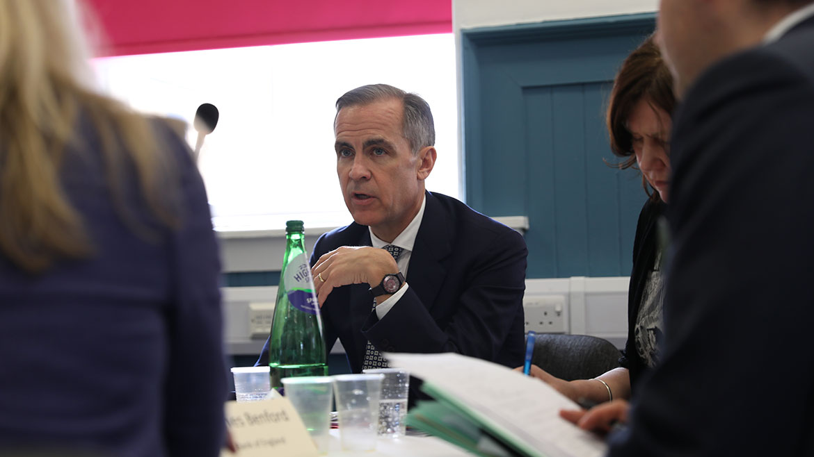 Mark Carney in discussion at the Community Forum in Glasgow