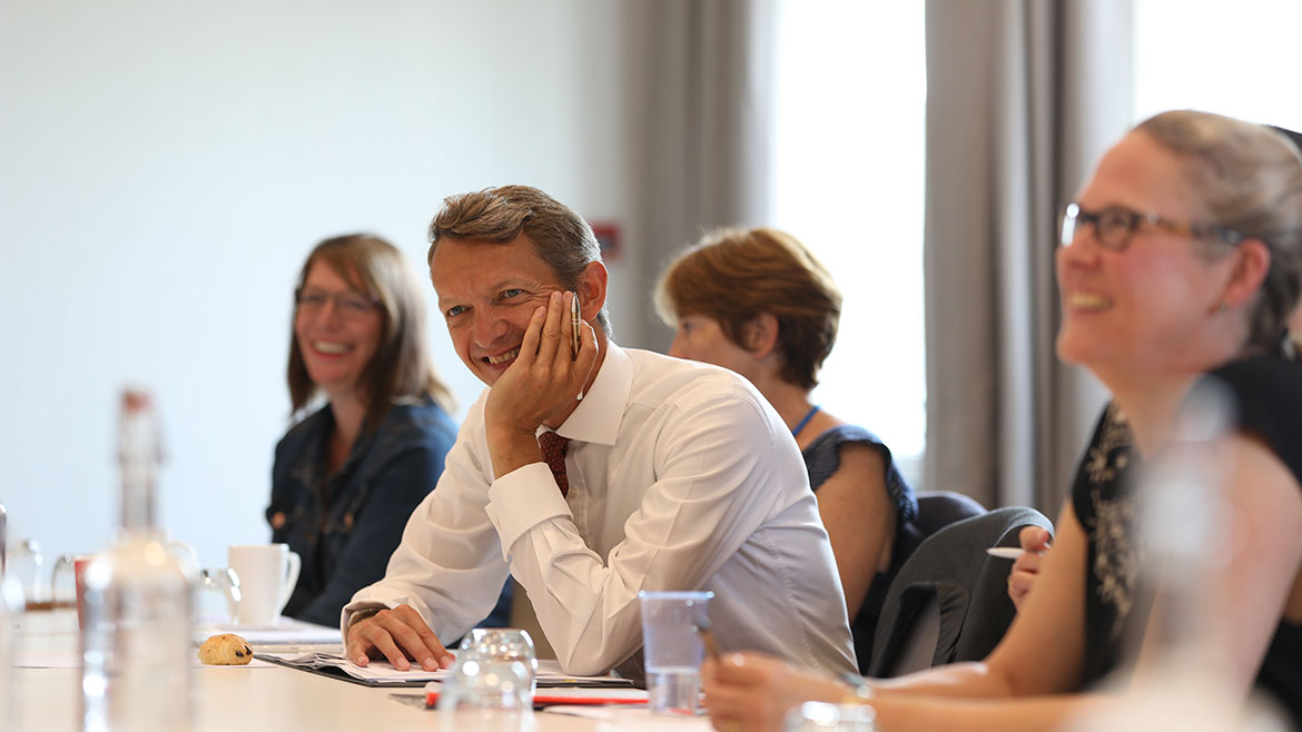 Attendees at the Oxfordshire Community Forum with Chief Economist, Andy Haldane