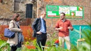 Deputy Governor Sam Woods at the MAXWELL street gardens and community centre