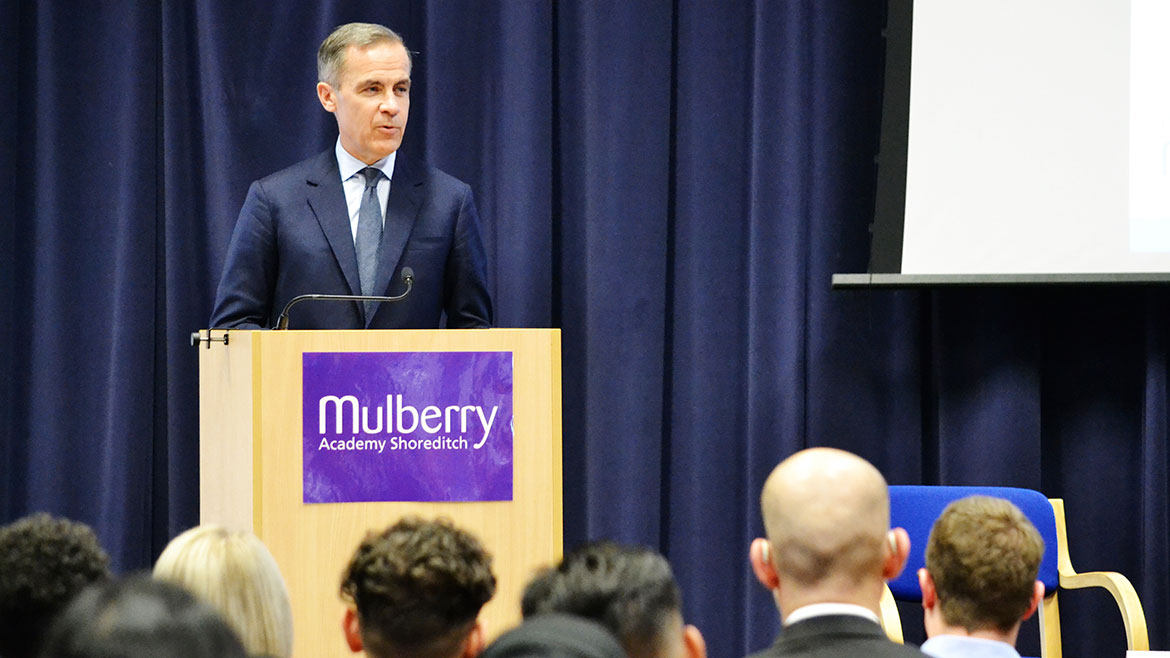 Mark Carney speaking at our Tower Hamlets Townhall