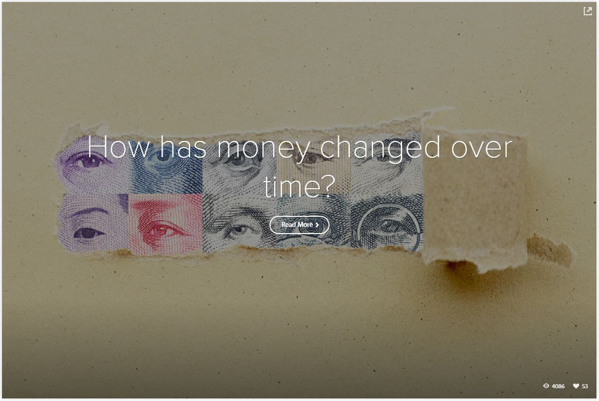 How has money changed over time?
