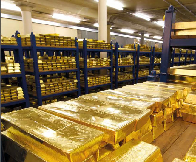 How much gold is kept in the Bank of England - 4