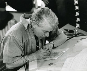 Harry N. Eccleston, bank note designer and artist, was part of the Bank Note Design Section