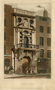 Unknown, Mercers' Hall, c.1700, 0002
