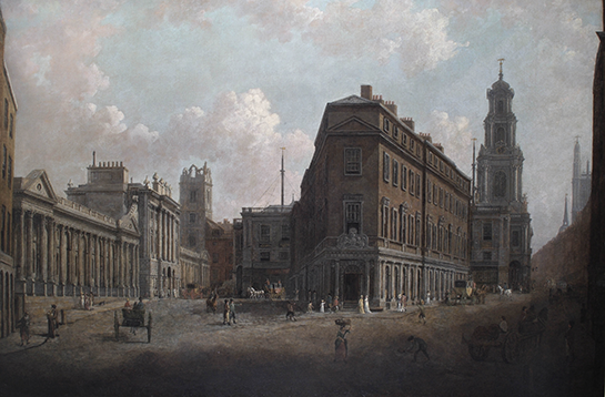 William Marlow, The Bank of England and the Royal Exchange, c.1790, 0028