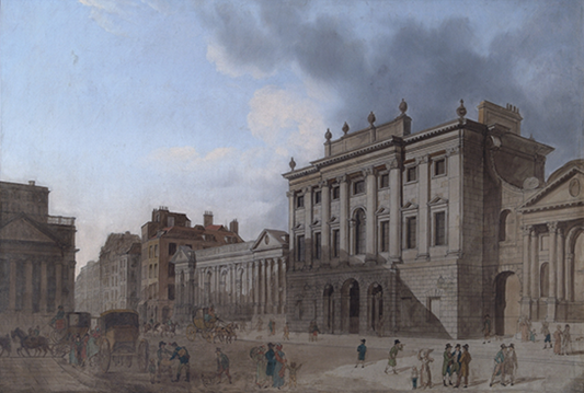 Thomas Shepherd, A View of the Old Bank of England circa 1800, c.1800, 0803