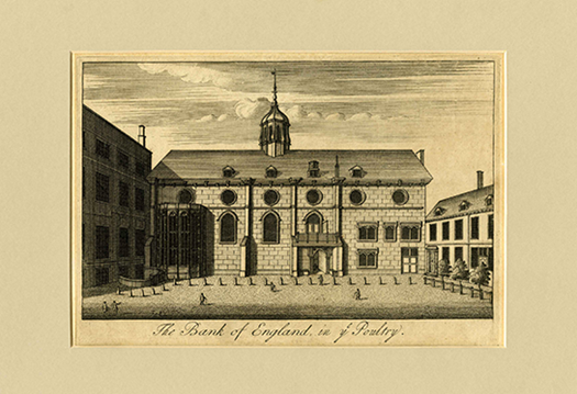Unknown, The Bank of England in ye Poultry, c.1700, 0876