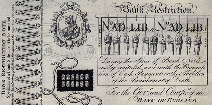 Bank Restriction Note from 1819