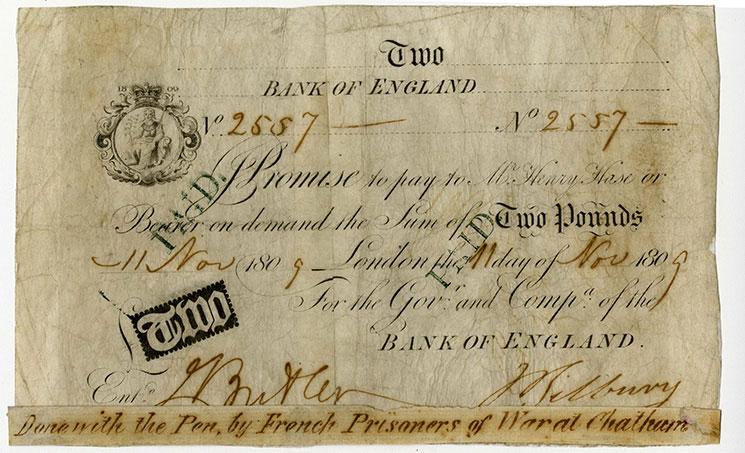 Unknown, counterfeit banknote, 11 November 1809, I/114