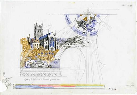 Roger Withington, design for St. Cecilia, c.1990, 1999/091