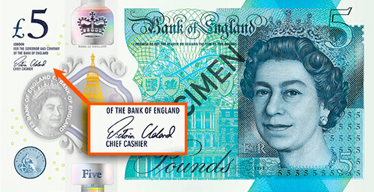 Bank of England, Series G £5 note