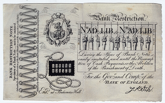 George Cruikshank, Bank Restriction Note, 1819, 1985/015