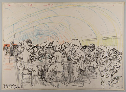 Feliks Topolski, Final Examination Area, 1978/038