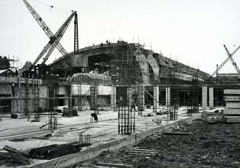Constructing the main production hall. Reference no 15A13-6-2-1-2/027