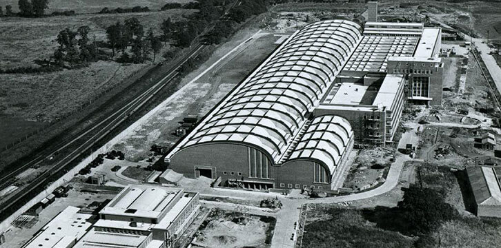 Aerial view of Debden Printing Works