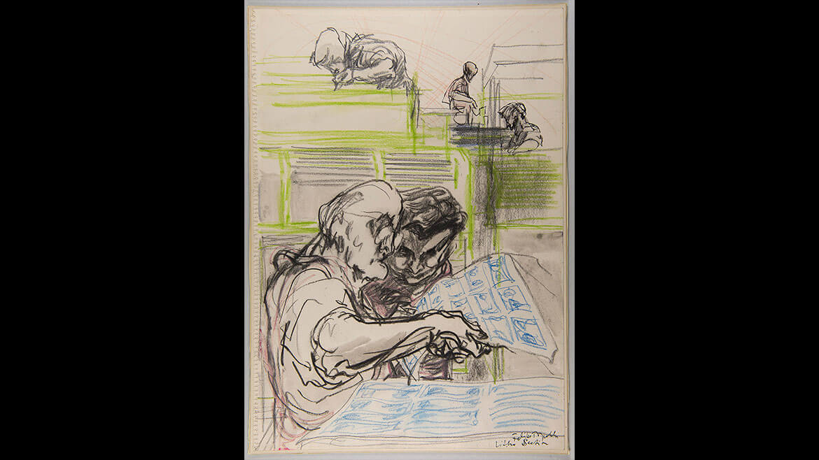 Feliks Topolski, Litho Section, 1957