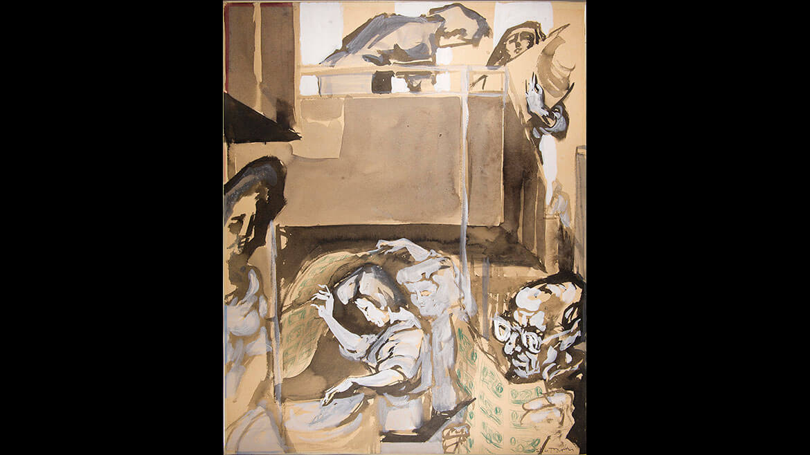 Feliks Topolski, Plate Printing Section, 1957