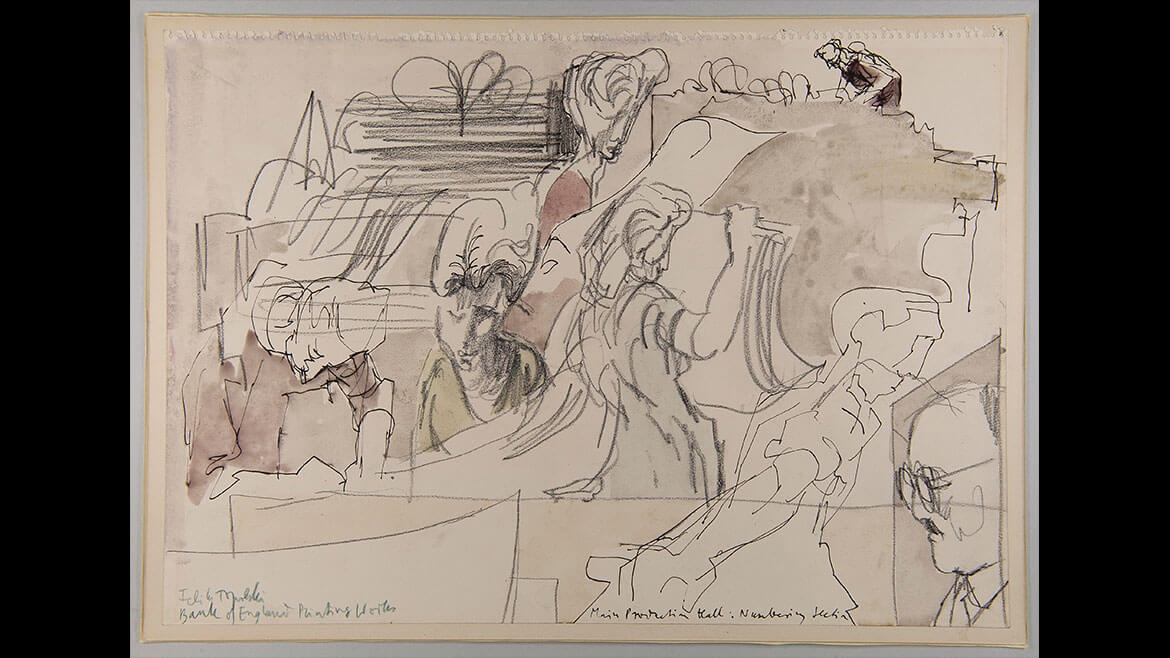 Feliks Topolski, Numbering Section, 1957