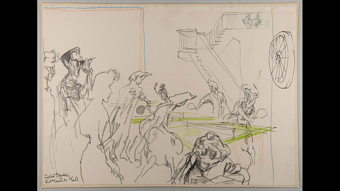Feliks Topolski, Recreation Hall, 1957