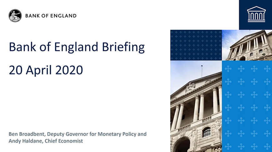 Bank of England Agency Network briefing - April 2020